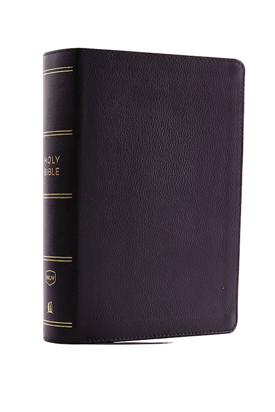 NKJV Compact Single-Column Reference Bible (Comfort Print)-Black Genuine Leather  | SHOPtheWORD