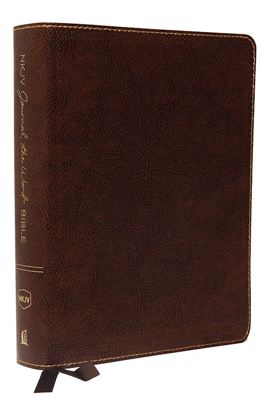 NKJV Journal The Word Bible (Comfort Print)-Brown Bonded Leather   SHOPtheWORD