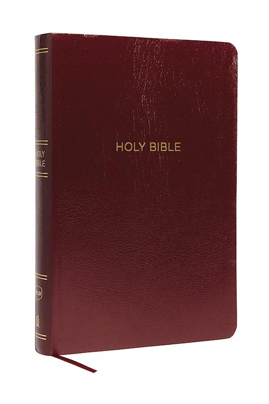 NKJV Super Giant Print Reference Bible (Comfort Print)-Burgundy Leather-Look | SHOPtheWORD