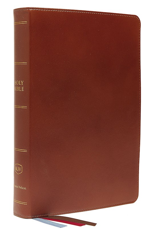 KJV Preaching Bible (Comfort Print)-Brown Genuine Leather | SHOPtheWORD