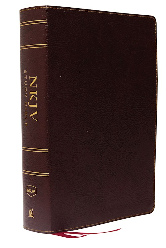 NKJV Study Bible (Full-Color) (Comfort Print)-Burgundy Bonded Leather Indexed   SHOPtheWORD