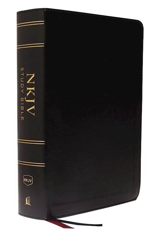 NKJV Study Bible (Full-Color) (Comfort Print)-Black Leathersoft Indexed | SHOPtheWORD
