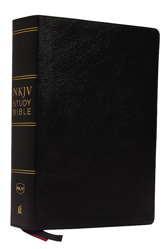 NKJV Study Bible (Comfort Print)-Black Premium Bonded Leather | SHOPtheWORD