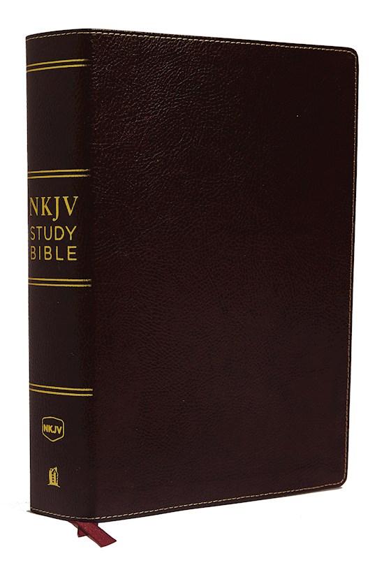 NKJV Study Bible (Comfort Print)-Burgundy Premium Bonded Leather | SHOPtheWORD