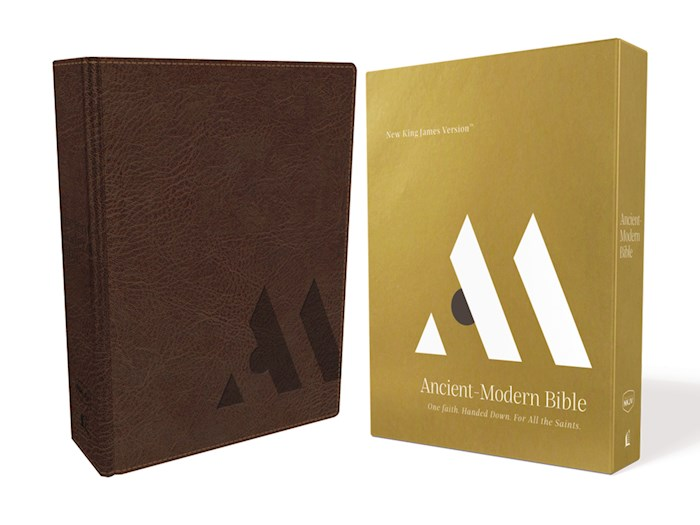 NKJV Ancient-Modern Bible (Comfort Print)-Brown Leathersoft | SHOPtheWORD