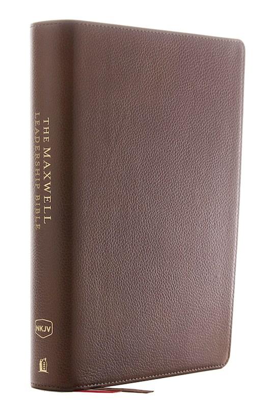 NKJV Maxwell Leadership Bible (Third Edition) (Comfort Print)-Brown Genuine Leather  | SHOPtheWORD