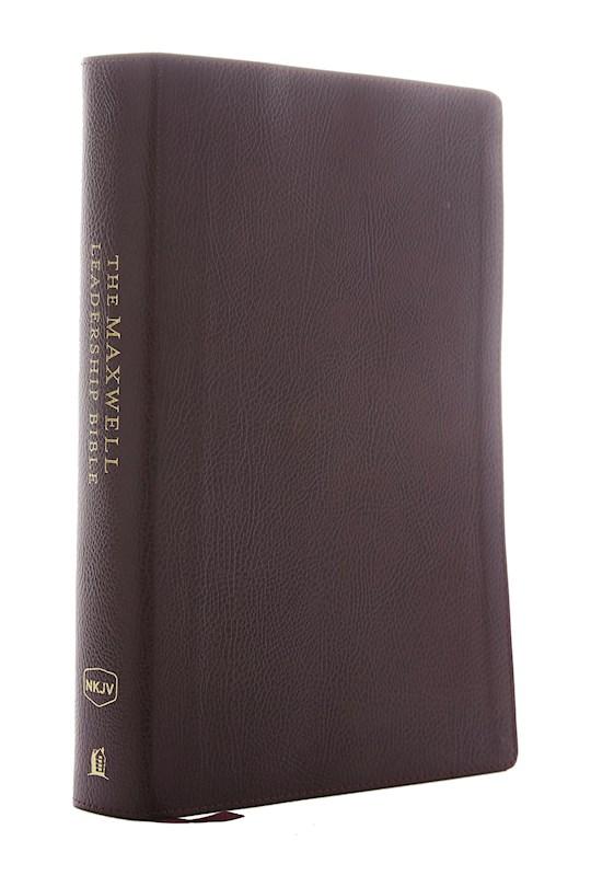 NKJV Maxwell Leadership Bible (Third Edition) (Comfort Print)-Burgundy Premium Bonded Leather | SHOPtheWORD