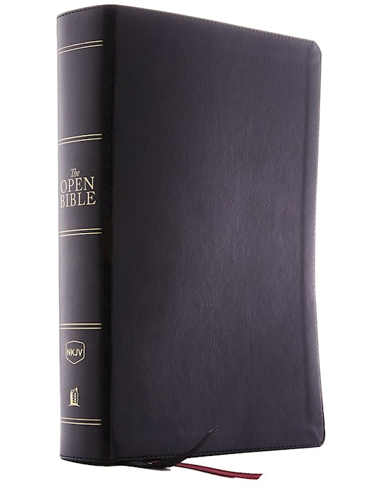 NKJV Open Bible (Comfort Print)-Black Leathersoft   SHOPtheWORD