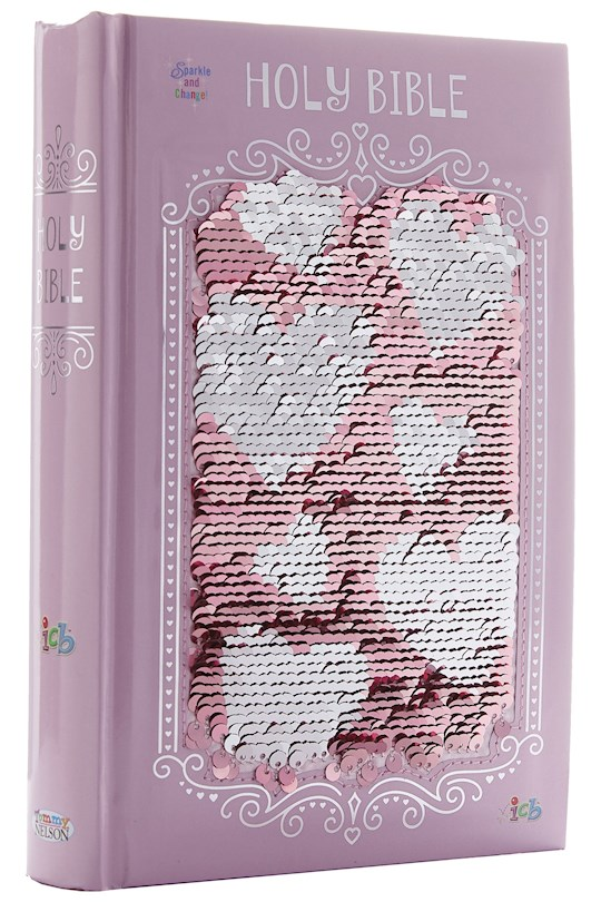 ICB The Sequin Sparkle And Change Bible-Pink Hardcover   SHOPtheWORD