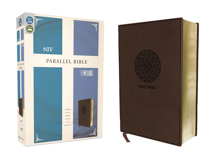 NIV & Message Parallel Bible-Brown Leathersoft  | SHOPtheWORD