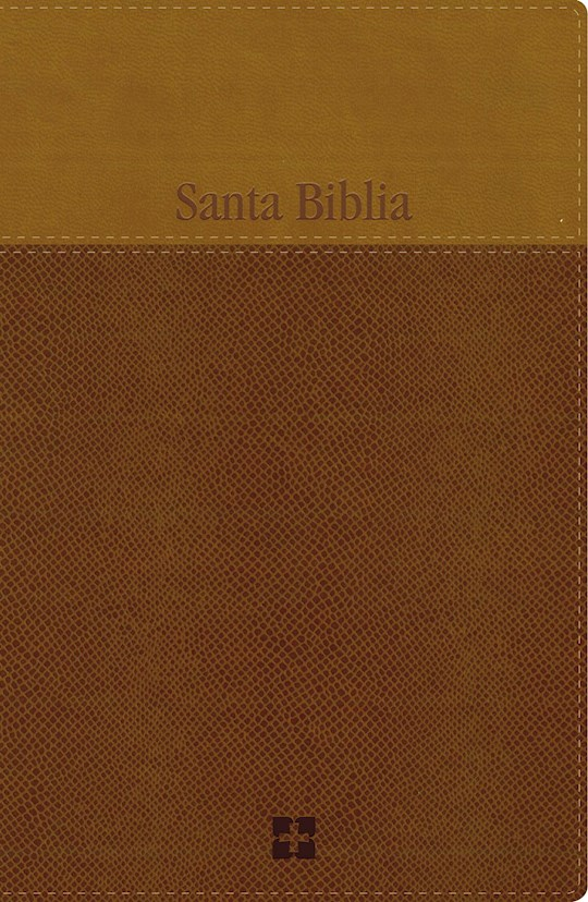 Span-NIV Large Print Bible (Comfort Print)-Brown/Tan LeatherSoft | SHOPtheWORD