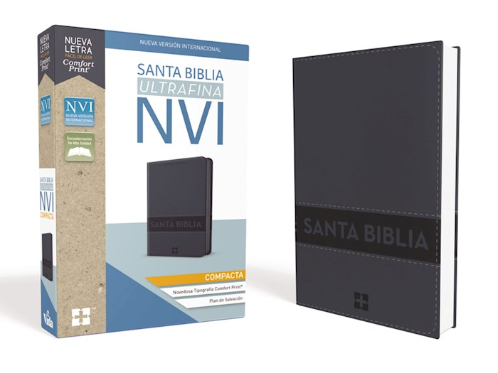 Span-NIV Compact Thinline Bible (Comfort Print)-Blue Leathersoft w/Zipper | SHOPtheWORD
