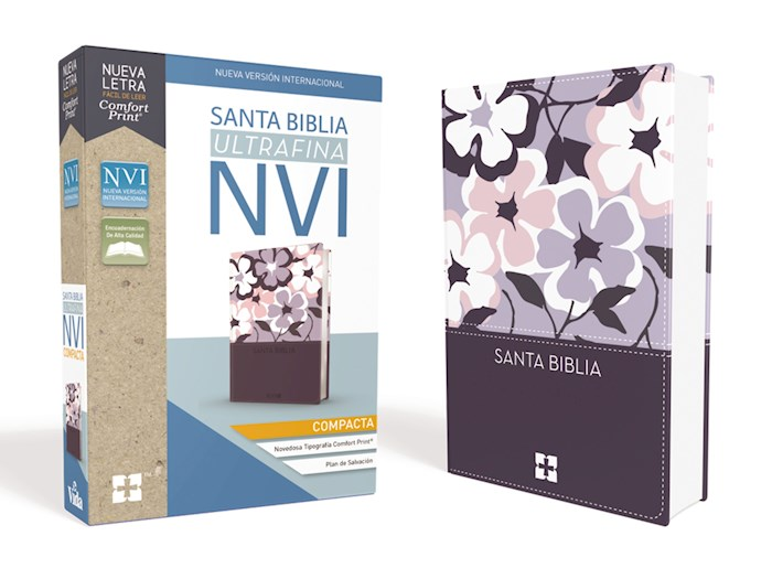 Span-NIV Compact Thinline Bible (Comfort Print)-Lavender Flower Leathersoft | SHOPtheWORD