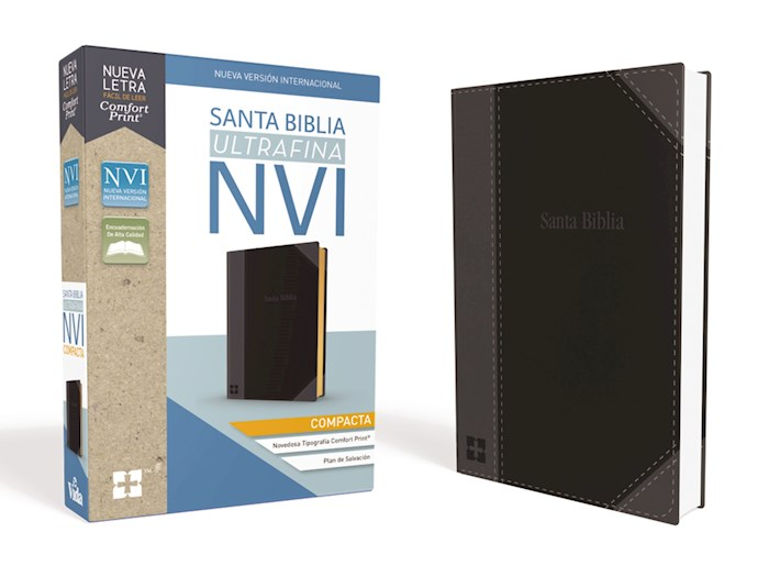 Span-NIV Compact Thinline Bible (Comfort Print)-Black Leathersoft | SHOPtheWORD