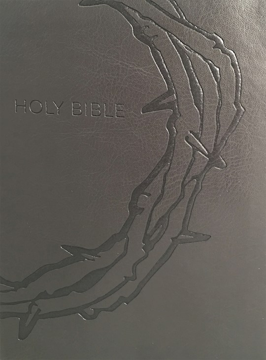 KJVER Sword Study Bible Giant Print Designer Charcoal Ultrasoft-Crown Of Thorns   SHOPtheWORD