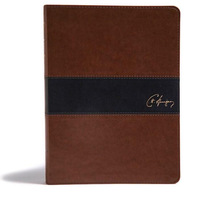 KJV Spurgeon Study Bible-Black/Brown LeatherTouch | SHOPtheWORD