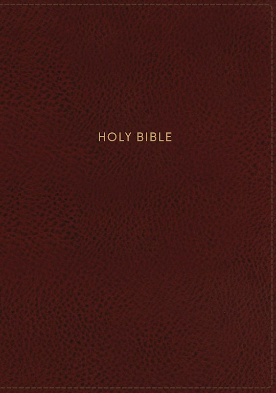 NKJV Deluxe Personal Size Giant Print Reference Bible (Comfort Print)-Crimson Leathersoft Indexed | SHOPtheWORD