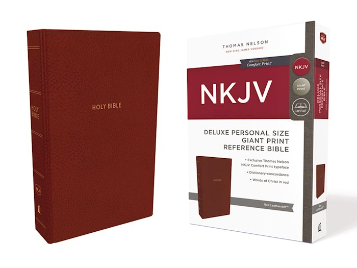 NKJV Deluxe Personal Size Giant Print Reference Bible (Comfort Print)-Crimson Leathersoft  | SHOPtheWORD