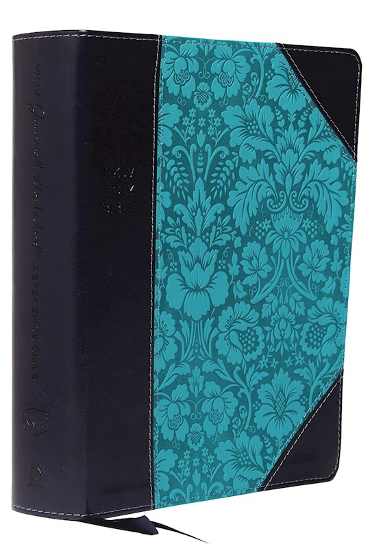 NKJV Journal The Word Reference Bible (Comfort Print)-Navy/Turquoise Leathersoft  | SHOPtheWORD