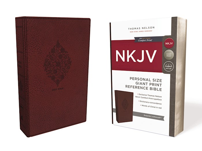 NKJV Personal Size Giant Print Reference Bible (Comfort Print)-Burgundy Leathersoft | SHOPtheWORD