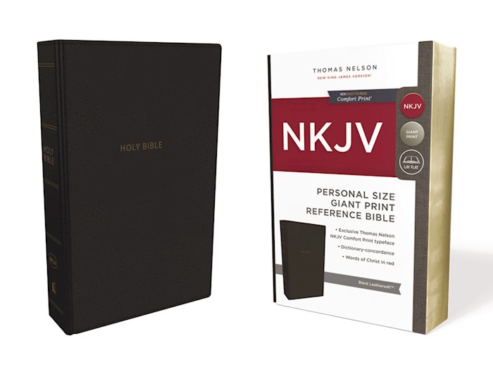 NKJV Personal Size Giant Print Reference Bible (Comfort Print)-Black Leathersoft | SHOPtheWORD