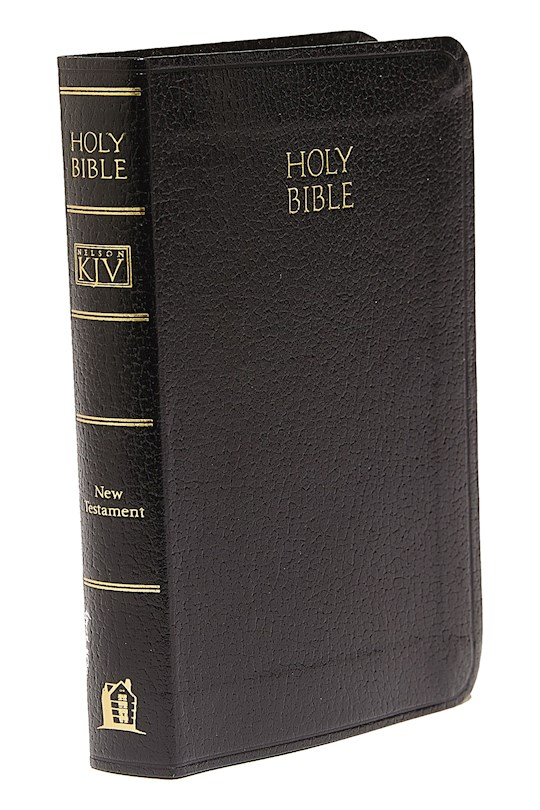 KJV Vest Pocket New Testament W/Psalms-Black Imitation Leather | SHOPtheWORD