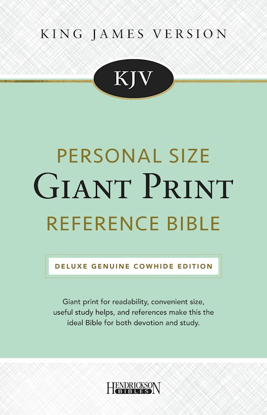 KJV Personal Size Giant Print Reference Bible-Black Genuine Cowhide Split Leather | SHOPtheWORD