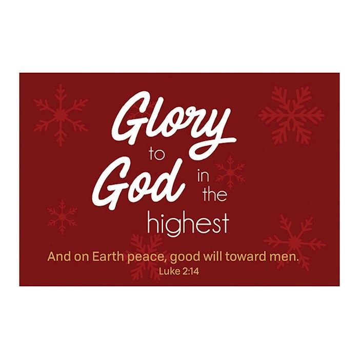 """Cards-Pass It On-Glory To God In The Highest (3"""" x 2"""") (Pack Of 25) 