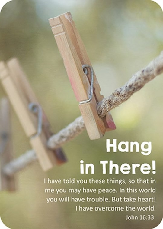 "Verse Card-Hang In There! (2.5""x3.5"") 