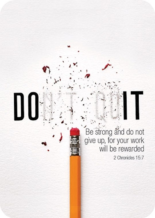 "Verse Card-Don't Quit/Pencil (2.5""x3.5"") 
