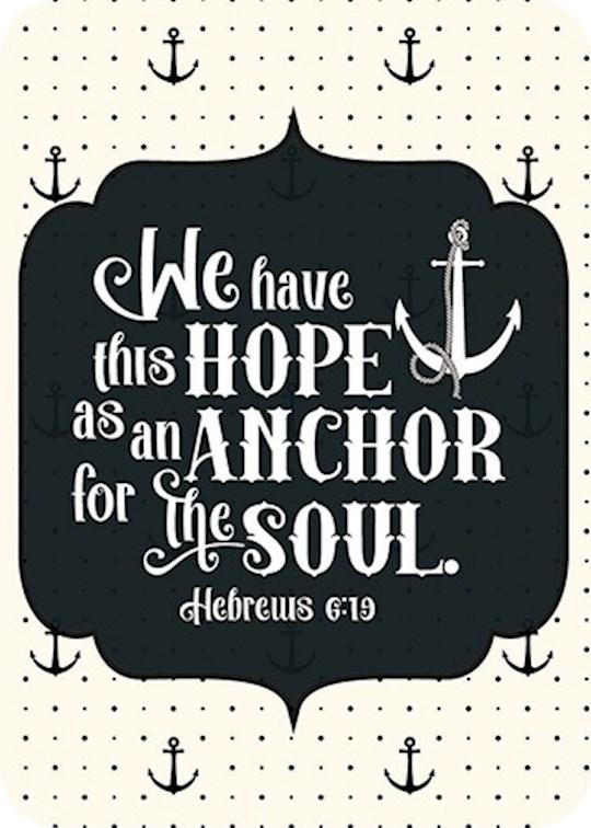 "Verse Card-Hope As An Anchor (2.5""x3.5"") | SHOPtheWORD"