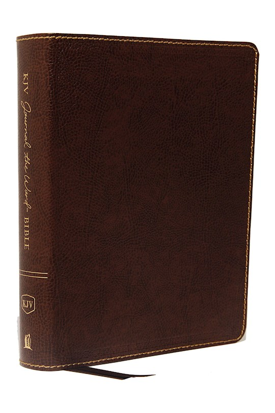 KJV Journal The Word Bible (Comfort Print)-Brown Bonded Leather   SHOPtheWORD