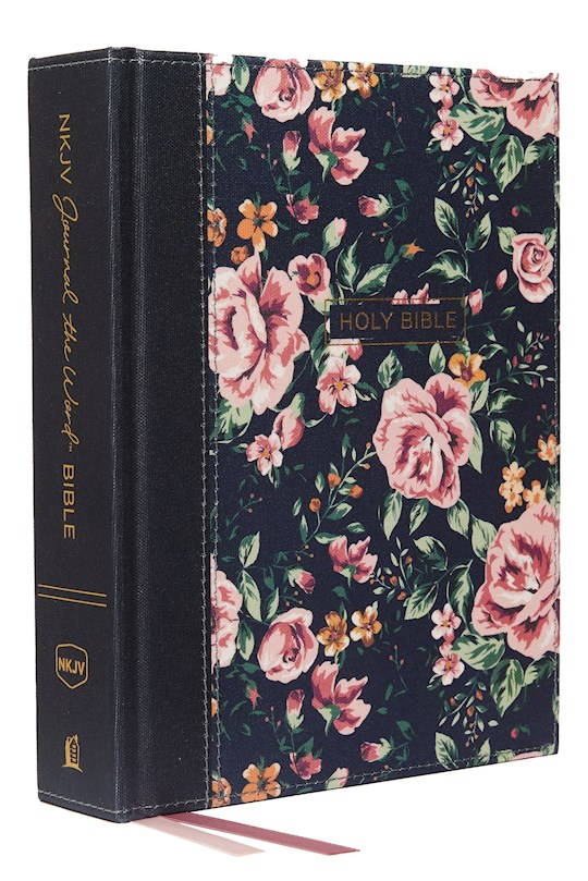 NKJV Journal The Word Bible (Comfort Print)-Gray Floral Cloth Over Board   SHOPtheWORD