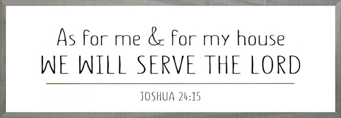 Framed Art-We Will Serve The Lord (6 X 18) (Farmhouse Art) | SHOPtheWORD