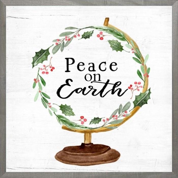 Framed Art-Peace On Earth (18 X 18) (Farmhouse Art) | SHOPtheWORD
