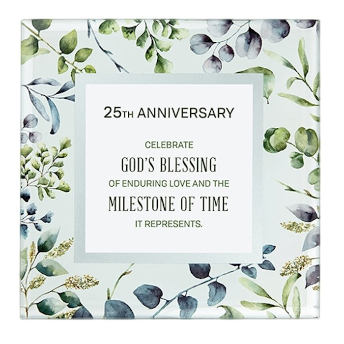 "Framed Art-Tabletop-25th Anniversary (7"" x 7"") 