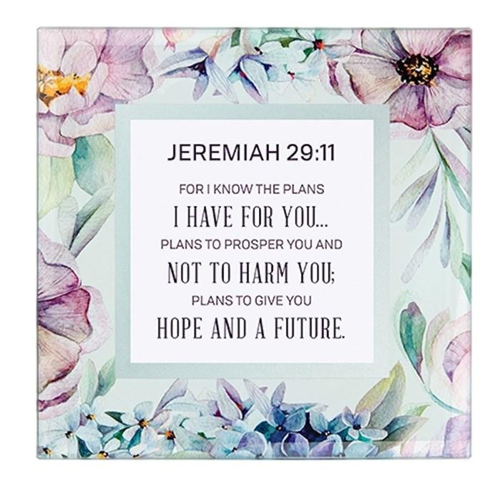 "Framed Art-Tabletop-Jeremiah 29:11 (7"" x 7"") | SHOPtheWORD"