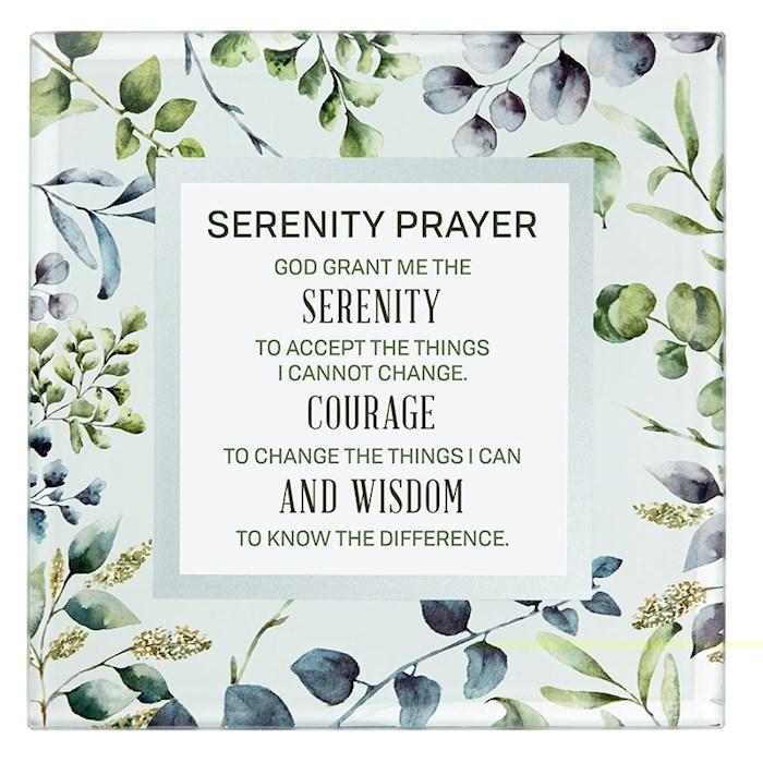 "Framed Art-Tabletop-Serenity Prayer (7"" x 7"") | SHOPtheWORD"
