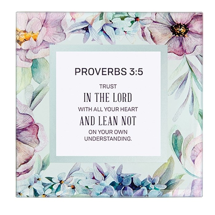 "Framed Art-Tabletop-Proverbs 3:5 (7"" x 7"") | SHOPtheWORD"