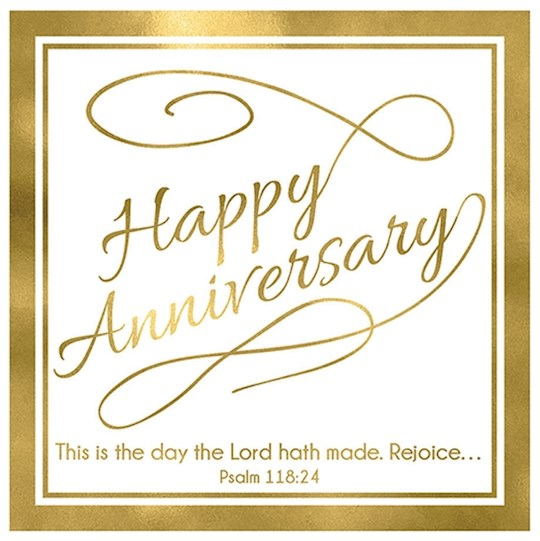 "Cards-Gift-Happy Anniversary (Psalm 118:24) (3"" X 3"") 