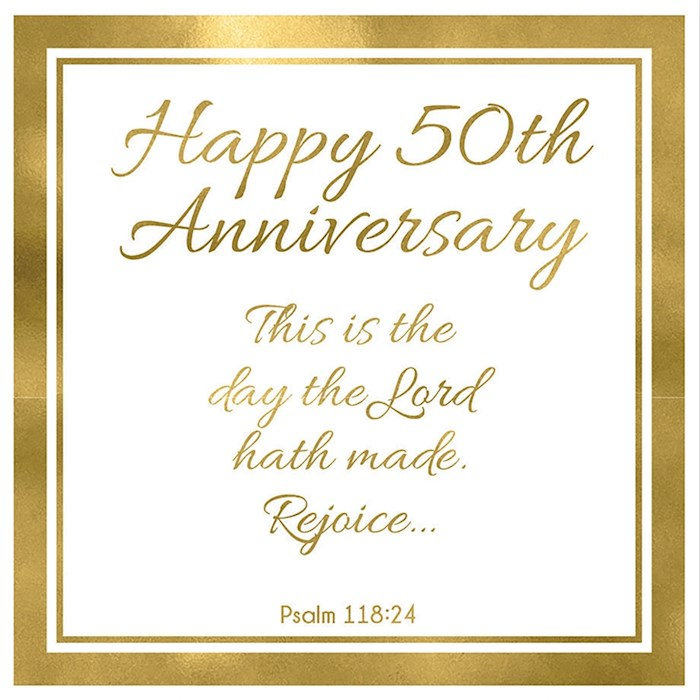 """Cards-Gift-50th Anniversary (Psalm 118:24) (3"""" X 3"""")   SHOPtheWORD"""