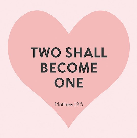 "Card-Gift-Two Shall Become One (Matthew 19:6) (3"" X 3"") 