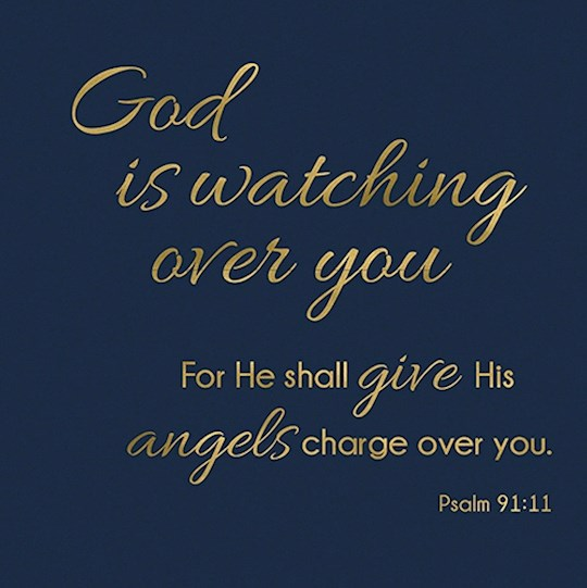 """Cards-Gift-God Is Watching (Psalm 91:11) (3"""" X 3"""")  