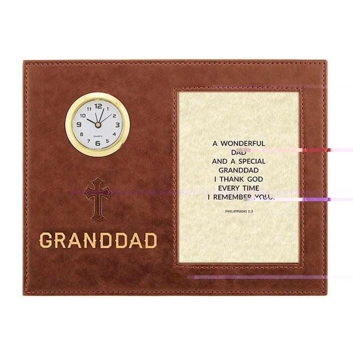 "Framed Clock-Table-Dad/Granddad (9"" X 7"") | SHOPtheWORD"