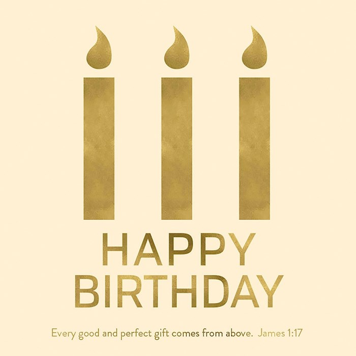 "Cards-Gift-Happy Birthday (James 1:17) (3"" X 3"") 