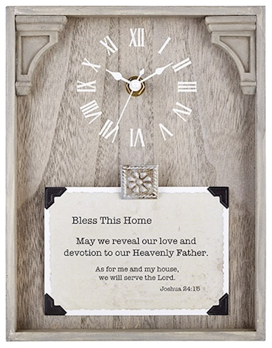 "Clock-Framed Tabletop-Home (Joshua 24:15) (7"" x 9"") | SHOPtheWORD"