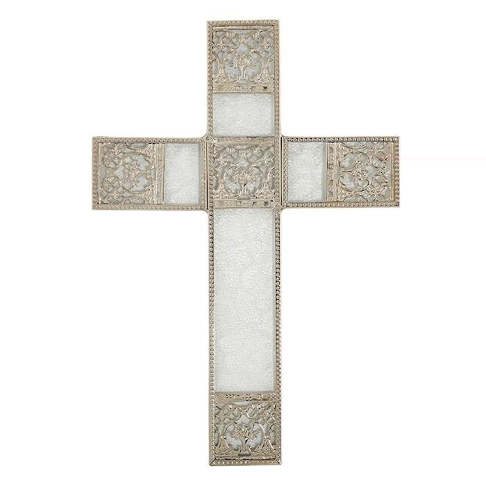 "Cross-Spiritual Harvest-Wall-Silver (6.75"" X 9.75"") | SHOPtheWORD"