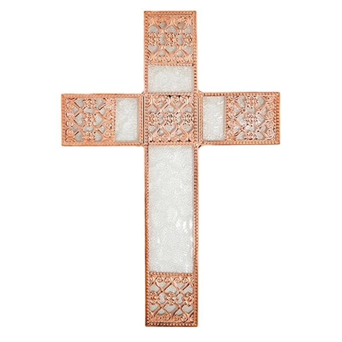 "Cross-Spiritual Harvest-Wall-Rose Gold (6.75"" X 9.75"") 