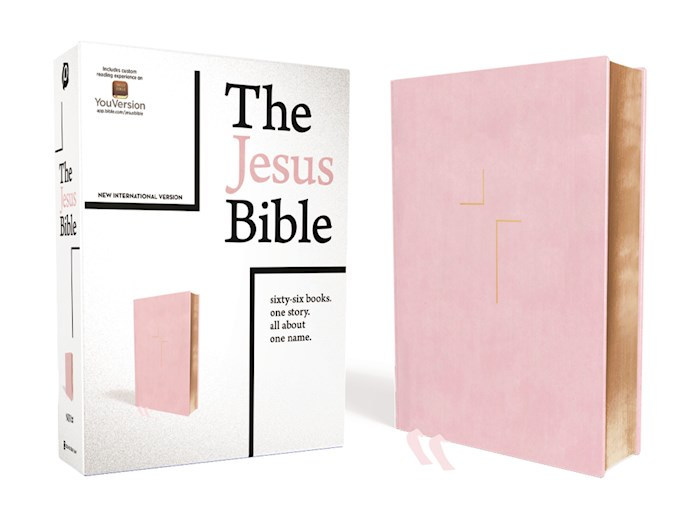 NIV The Jesus Bible (Comfort Print)-Pink Leathersoft Indexed | SHOPtheWORD