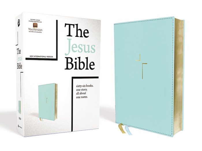 NIV The Jesus Bible (Comfort Print)-Blue Leathersoft   SHOPtheWORD